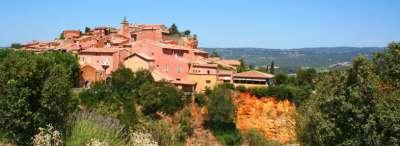 Village de roussillon en provence itineraire touristique