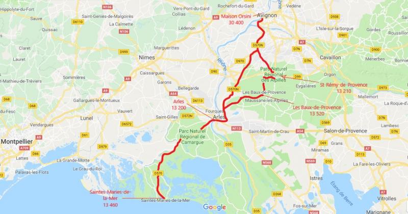 itineraire touristique alpilles camargue beaux provence maison orsini